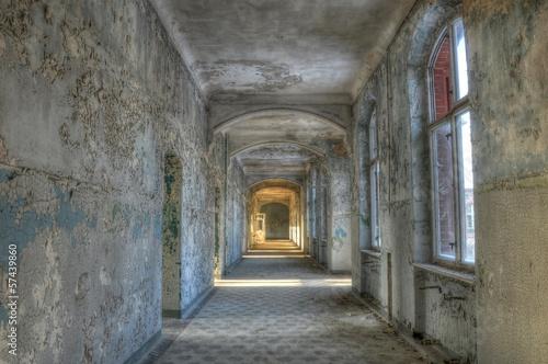 Photo Stands Old Hospital Beelitz Altes verlassenes Krankenhaus