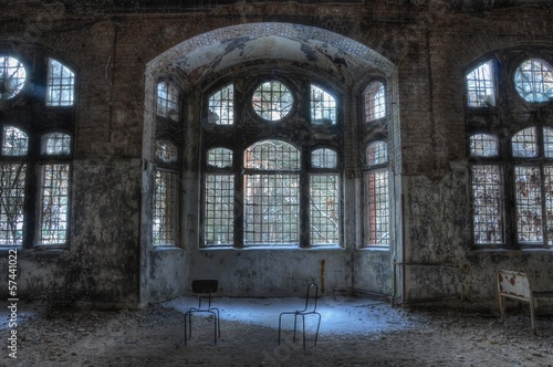 Wall Murals Old Hospital Beelitz Old abandoned sanatorium in beelitz