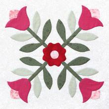 Patchwork Quilt Pattern Flower
