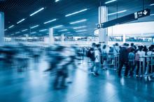 Passengers Motion Blur In Subw...