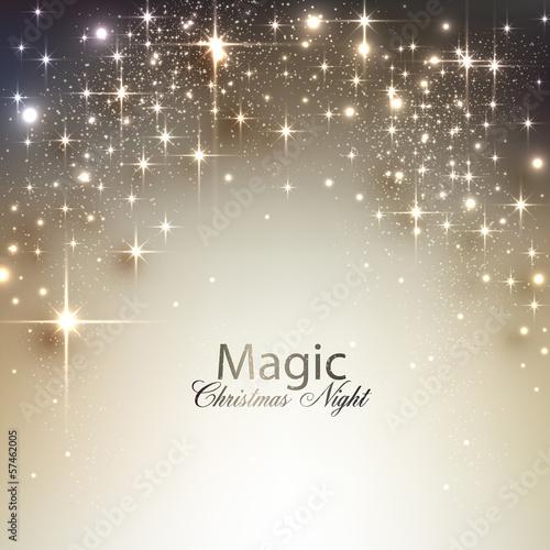 Fotografía  Elegant Christmas background with place for text. Vector Illustr
