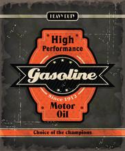 Vintage Gasoline Motor Oil Pos...