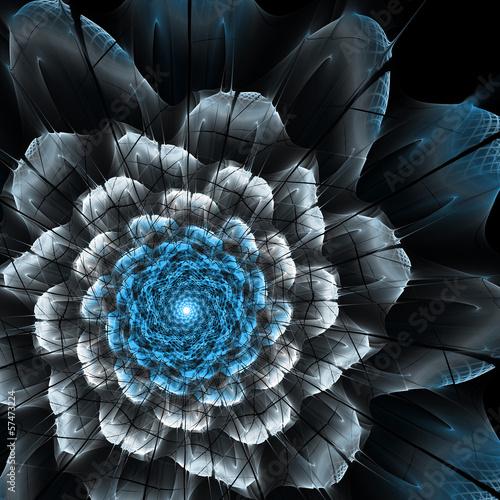 fraktal-streszczenie-futurystyczny-kwiat
