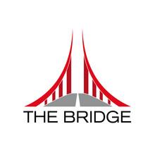 Vector Logo Red Bridge