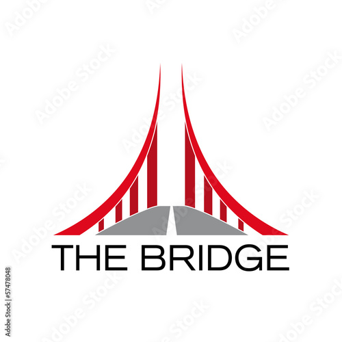 Fotografia  Vector Logo Red Bridge