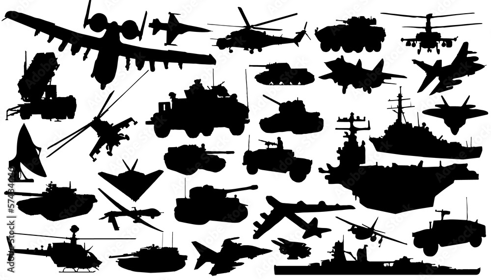 Fototapeta military_technology_silhouettes