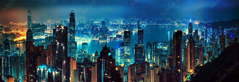 Fototapeta Hong Kong panorama