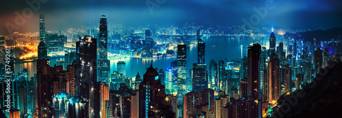 Hong Kong panorama Canvas Print