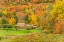 Autumn Landscape In Vermont