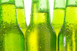 canvas print picture - Row of beer bottles