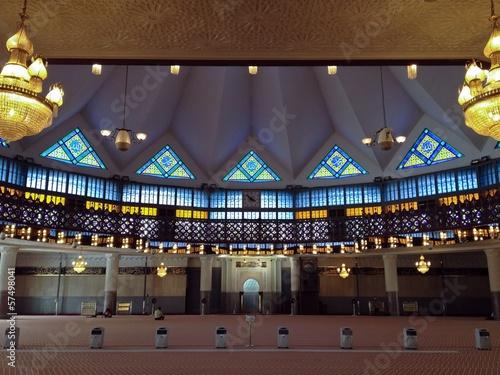 Photo  Interior National Mosque Kuala Lumpur Malaysia Southeast Asia