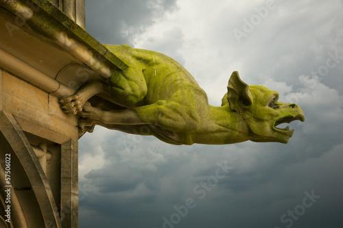 Photo gargoyle on Ulm Munster church