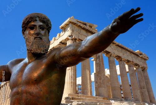 Staande foto Athene Athènes et l'Acropole