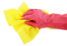 Hand In Glove Wiping Surface W...