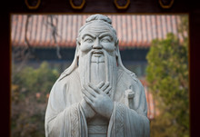 Statue Of Confucius In Temple ...