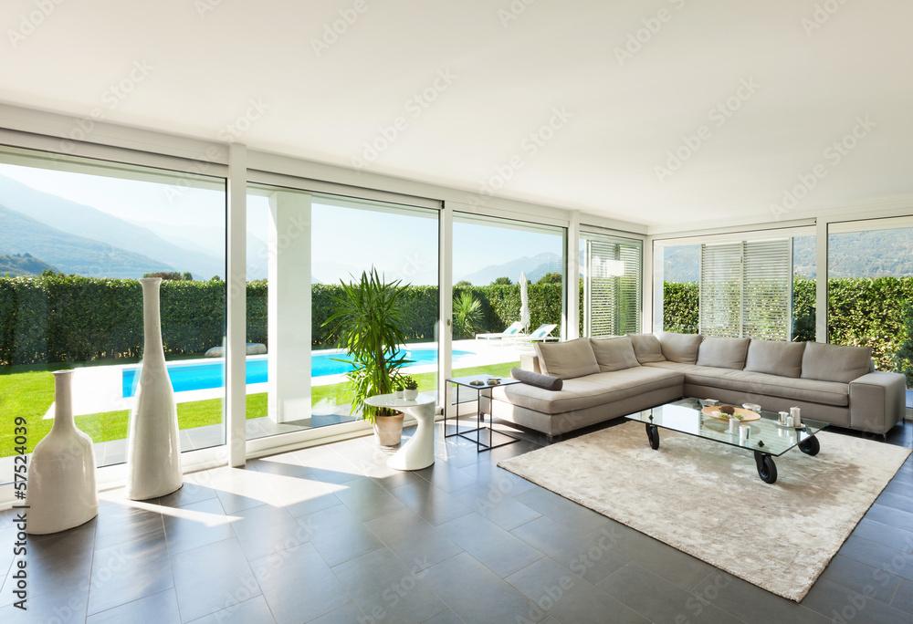 Modernes Haus, Interieur, Schönes Wohnzimmer Foto, Poster, Wandbilder Bei  EuroPosters