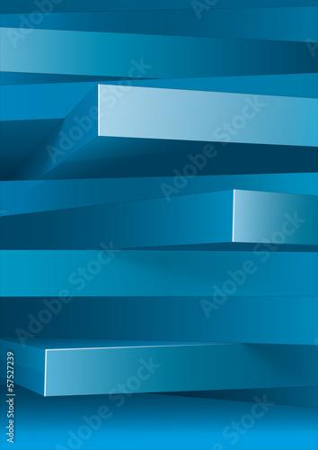 Plakat Streszczenie tło 3d prostokąty