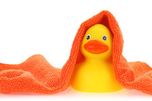 Rubber Yellow Duck With Towel