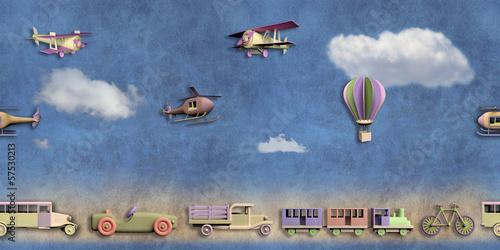 zabawa-wzor-z-zabawkami-retro-transportu