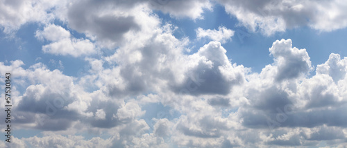 Aluminium Prints Heaven Blue sky with gray clouds