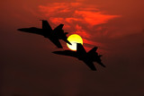 fighter jets silhouette