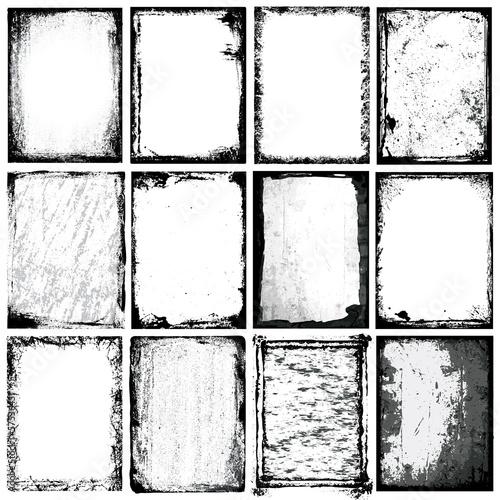 Fotografía  Vector borders, backgounds and textures