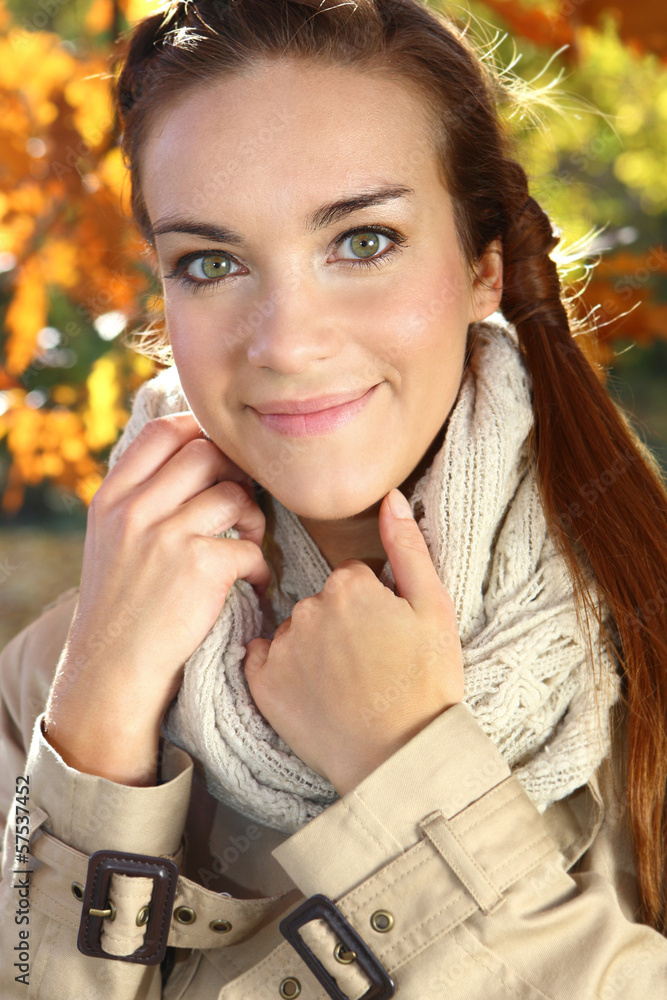 Fototapeta jesienna kobieta