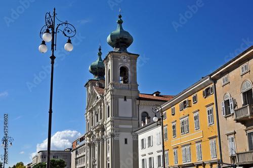 Deurstickers Toscane Gorizia, Piazza della Vittoria chiesa di sant'Ignazio