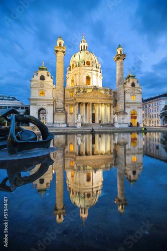 Baroque church Karlskirche in Vienna Austria Canvas Print