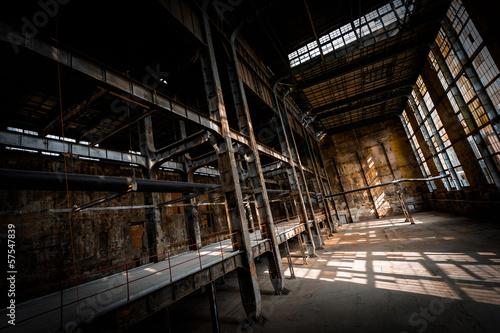 Staande foto Industrial geb. abandoned industrial interior