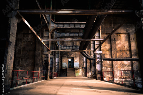 Poster Industrial geb. abandoned industrial interior