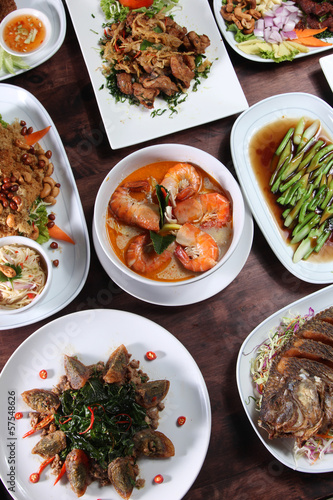 Photo  Thai food popular menu
