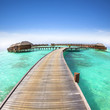 beautiful water villa on the sea. maldives