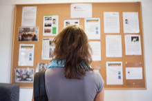 Student Studying Notice Board