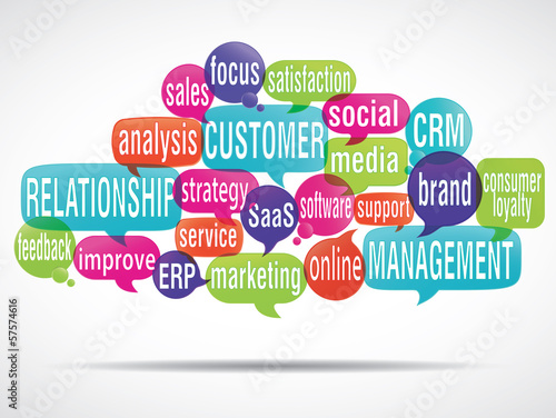 Fototapety, obrazy: word cloud bubbles : crm