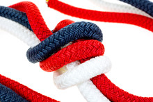 Close View Of A Red White And ...