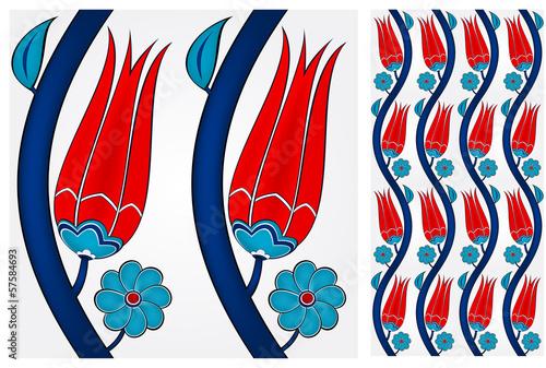 Fotografia  Seamless Turkish Tile