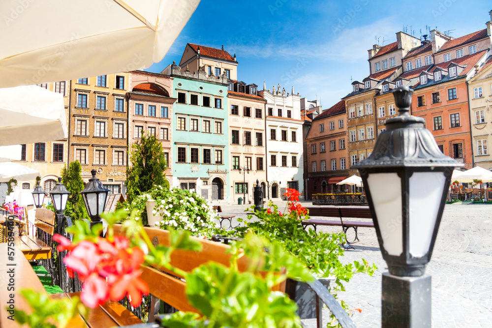 Fototapety, obrazy: Stary Rynek w Warszawie