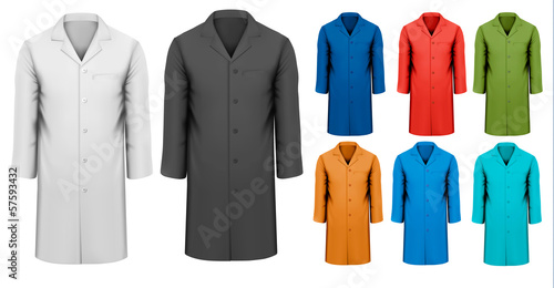 Fotografie, Tablou  Set of white and black and colorful work clothes. Vector