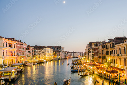 Fototapety, obrazy: VENICE, ITALY - JUNE 30: View from Rialto bridge on June 30, 201
