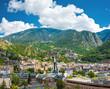 Andorra la Vella under puffy clouds, Andorra