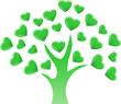 drzewo z serc
