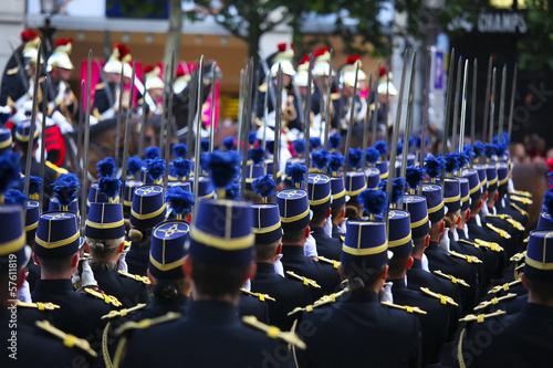 Stampa su Tela フランス革命記念日パレード (7月14日) Fête nationale