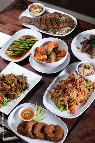 Set of Thai food menu Canvas Print
