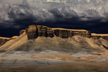 Dark Clouds Over Desert Mesa