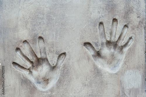 Valokuva  handprint in the wall