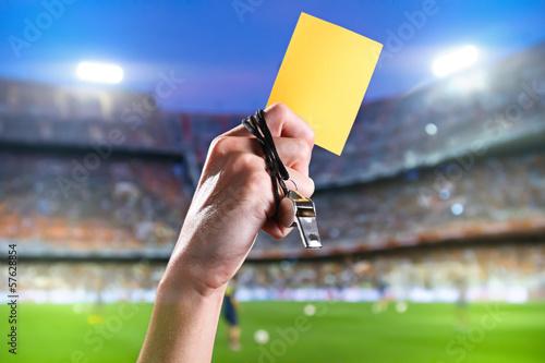 Yellow card Fototapet