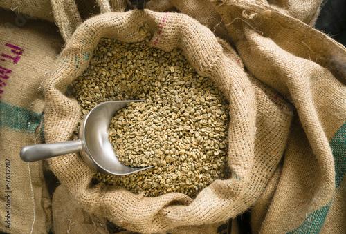 Surowe nasiona kawy Masowa miarka Juta torba Rolnictwo Fasola