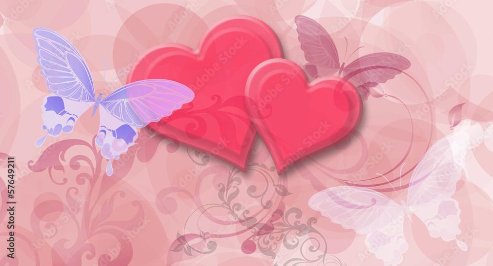 Fototapety, obrazy: fototapeta dziewczynka serca 4