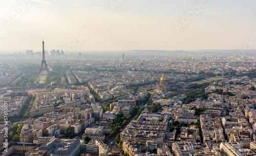 Poster de jardin Paris Panorama of Paris from Maine-Montparnasse Tower - France